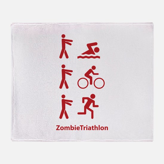 ZombieTriathlon Throw Blanket