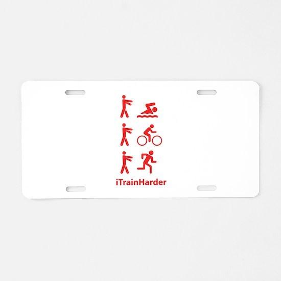 iTrainHarder Aluminum License Plate