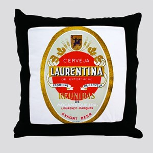 Mozambique Beer Label 1 Throw Pillow