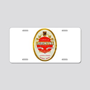 Mozambique Beer Label 1 Aluminum License Plate
