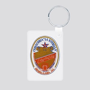 Mexico Beer Label 6 Aluminum Photo Keychain