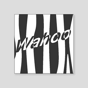 "Wahoo Square Sticker 3"" x 3"""
