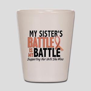 My Battle Too Uterine Cancer Shot Glass