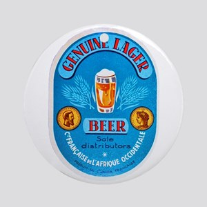 Ivory Coast Beer Label 4 Ornament (Round)