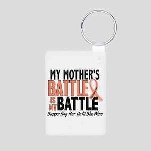 My Battle Too Uterine Cancer Aluminum Photo Keycha