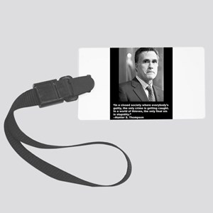 The Final Sin is Stupidity Large Luggage Tag