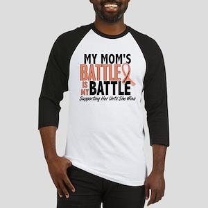 My Battle Too Uterine Cancer Baseball Jersey