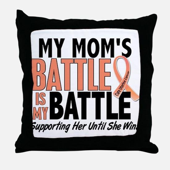 My Battle Too Uterine Cancer Throw Pillow