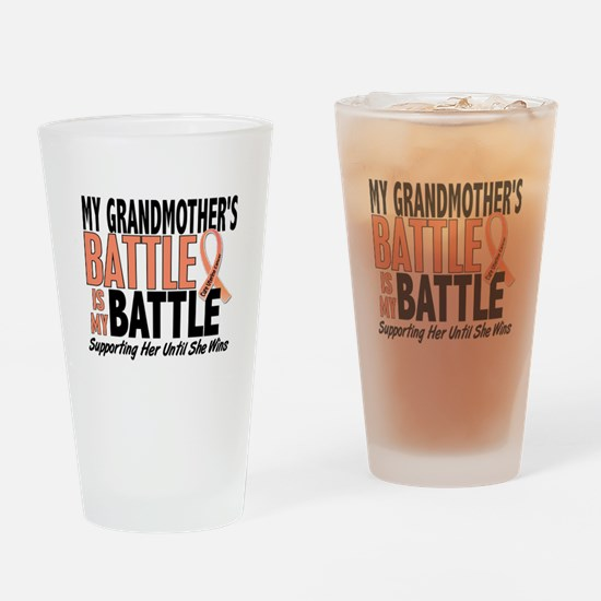 My Battle Too Uterine Cancer Drinking Glass