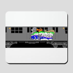 f train subway new york queens graffiti Mousepad