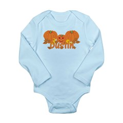 Halloween Pumpkin Dustin Long Sleeve Infant Bodysu