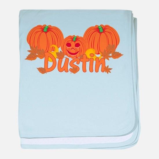 Halloween Pumpkin Dustin baby blanket