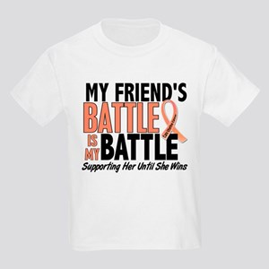 My Battle Too Uterine Cancer Kids Light T-Shirt