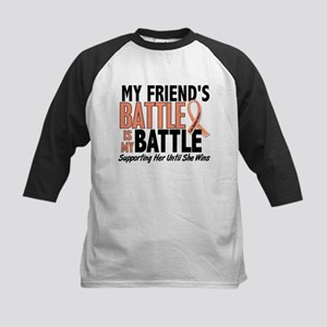 My Battle Too Uterine Cancer Kids Baseball Jersey