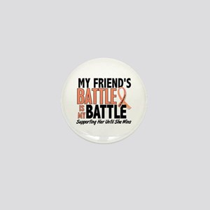 My Battle Too Uterine Cancer Mini Button