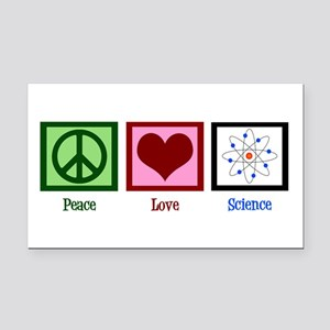 Peace Love Science Rectangle Car Magnet