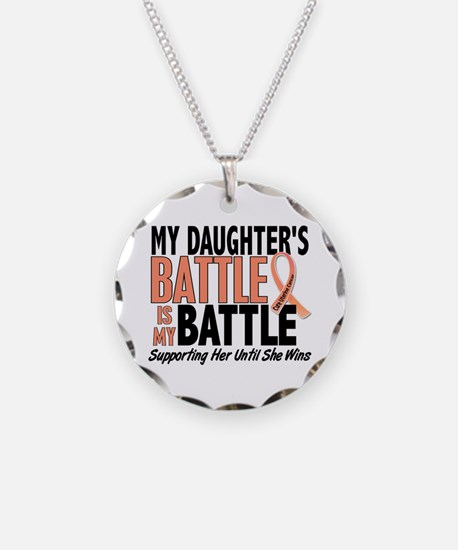 My Battle Too Uterine Cancer Necklace