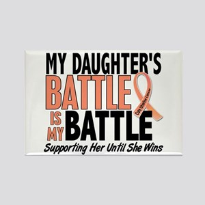 My Battle Too Uterine Cancer Rectangle Magnet