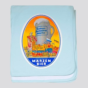 Germany Beer Label 11 baby blanket