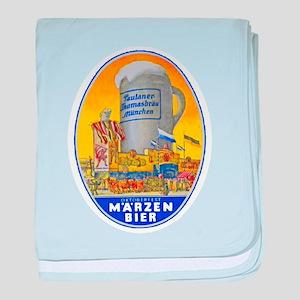 Germany Beer Label 11 baby blanket