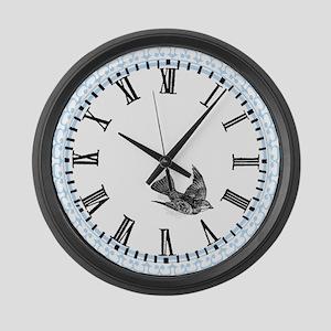 Bird Clock Large Wall Clock