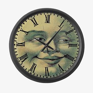 Vintage Moonface Large Wall Clock