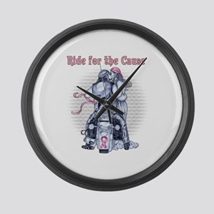 Ride for the Cause 2000x2000 Large Wall Clock
