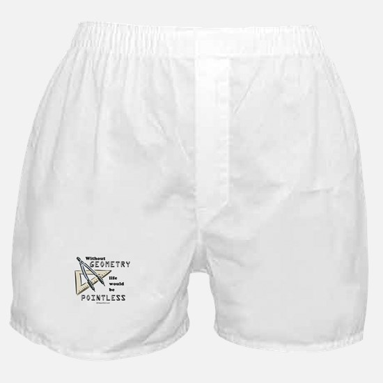 Without geometry, life is pointless -  Boxer Short