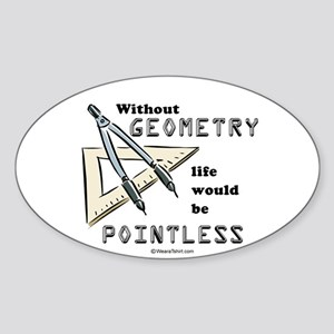 Without geometry, life is pointless - Sticker (Ov