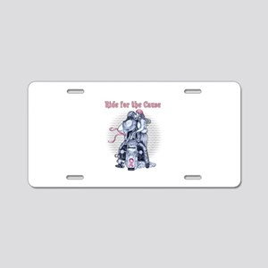 Ride for the Cause 555x750 Aluminum License Pl