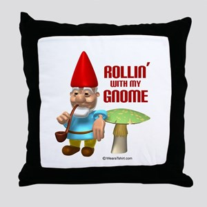Rollin with my Gnome -  Throw Pillow