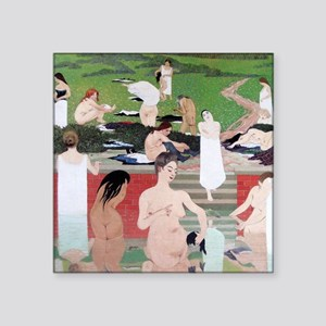 Felix Vallotton The Bath Summer Evening Square Sti