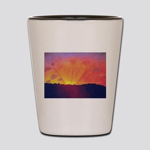 Felix Vallotton Sunset Orange Sky Shot Glass