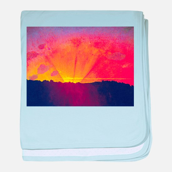 Felix Vallotton Sunset Orange Sky baby blanket