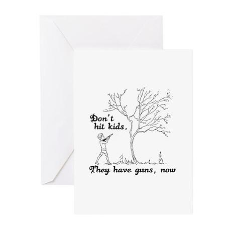 Don't hit kids - Greeting Cards (Pk of 10)