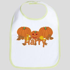 Halloween Pumpkin Harry Bib