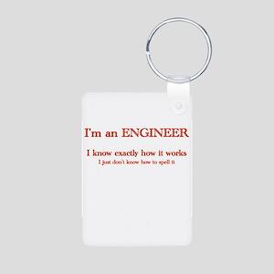Engineers know how it works Aluminum Photo Keychai