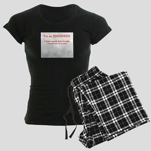 Engineers know how it works Women's Dark Pajamas