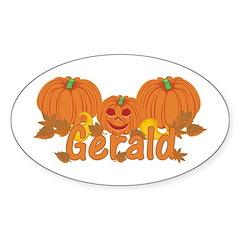 Halloween Pumpkin Gerald Sticker (Oval)