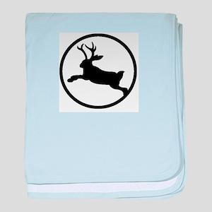 Jackalope baby blanket