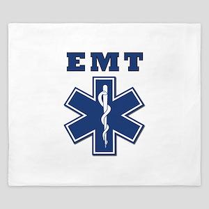 EMT Blue Star Of Life* King Duvet