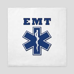 EMT Blue Star Of Life* Queen Duvet