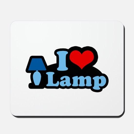I heart lamp -  Mousepad
