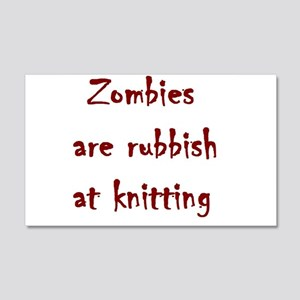 zombies are rubbish at knitting 20x12 Wall Decal