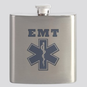 EMT Blue Star Of Life* Flask
