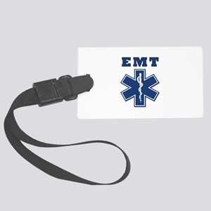 EMT Blue Star Of Life* Large Luggage Tag