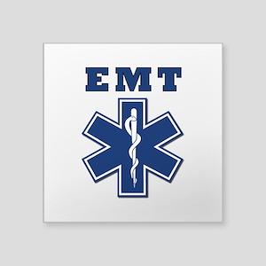"""EMT Blue Star Of Life* Square Sticker 3"""" x 3&"""