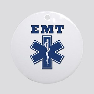 EMT Blue Star Of Life* Ornament (Round)