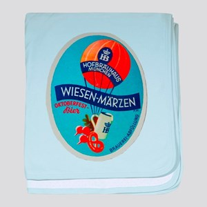Germany Beer Label 2 baby blanket