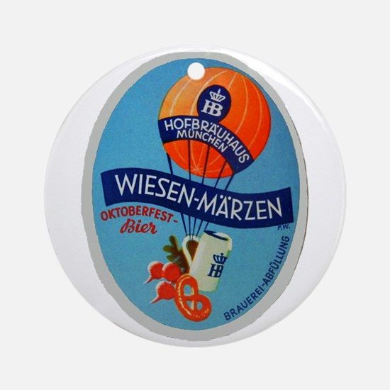 Germany Beer Label 2 Ornament (Round)